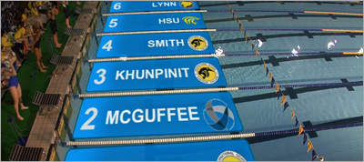 Virtual Lane Graphics For Swimming With CSS3