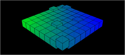 3D elevating cubes