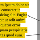 Multi-Line Padded Text