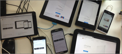 Synchronized Cross-device Mobile Testing