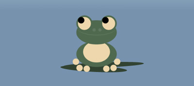 Hover Me: Ribbitting Pixelated Frog