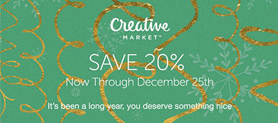 Save 20% on Premium Design Resources Now Through December 25