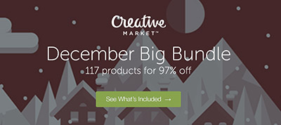 December Big Bundle: Save 97% on 117 design products
