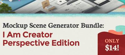 Mockup Scene Generator Bundle: I Am Creator Perspective Edition