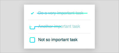 CSS-Only Todo List Checkbox Animation