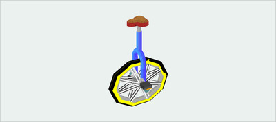 Animated 3D Unicycle Using CSS Transform & Perspective