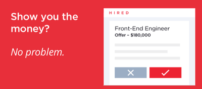 Join Hired - Get Salary + Equity Upfront