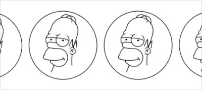 Drawing Homer Simpson using circles in CSS