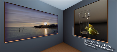 3D First Person Art Gallery - No Javascript