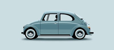 CSS ART - Vintage VW Bug