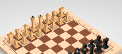 CSS 3D Chess Board Model with Pieces ♟️