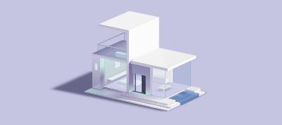 3D Modern House - Pure CSS
