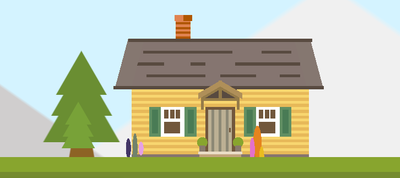 Single-Div Wooden Hut