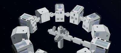 Endurance Spacecraft - Interstellar - Pure CSS